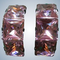 1920's Pink Mirrored Shoe Buckles
