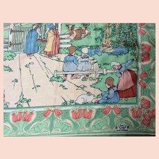 1930' Silk Liberty's ladies head scarf