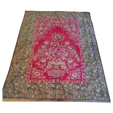 Victorian Indian hand embroidered silk wall hanging