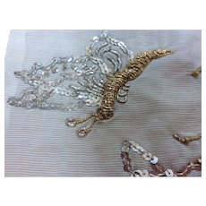 Edwardian sequins dragonfly / Flower trim
