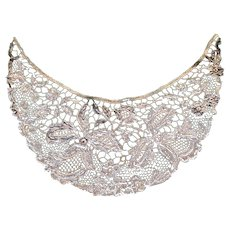 1920's lace Collar with beadwork