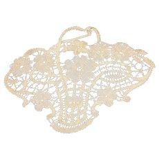 192o's cotton Lace Basket Motif