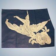 1920,s cotton lace Bird motif