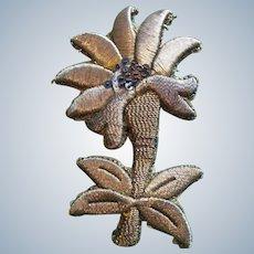 19th century Gold Thread Appliqué
