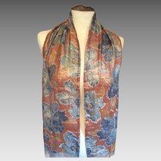 1920's Art Deco   larme stole in autumn colours