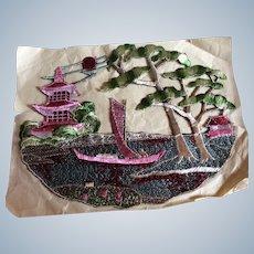 1920's Silk Appliqué Chinese scene