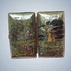 1920's small foil Celluloid Cigarette case