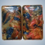 1920's marbled effect Celluloid Cigarette case