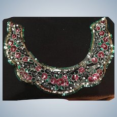 1920's multicoloured Sequin  Collar