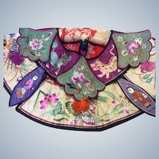 19th Century Chinese embroidered  Cape