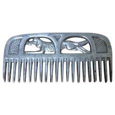 1920's Aluminium comb with dog design