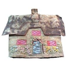 1920's felt House tea cosy