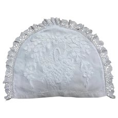 19th Century English hand worked embroidery & Lace Tea Cosy