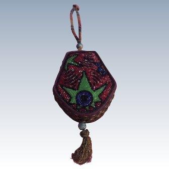 1920's Ladies  Abstract Beadwork  box bag
