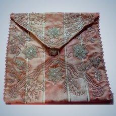 Regency silk & beadwork Ladies Bag