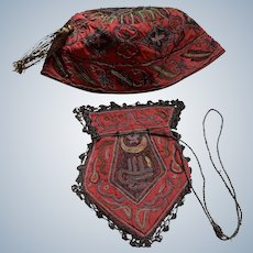 Early 1900's Turkish purse and smoking hat