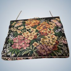 Early 1900's hand embroidered ladies bag
