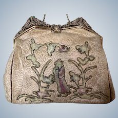 Early 1900's silk embroidered with Chinese figure