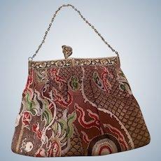 1920's Geometric design Tapestry  ladies evening bag