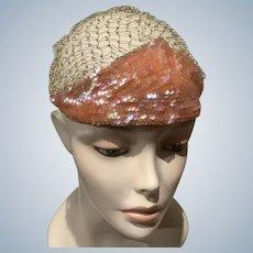 1920's Evening Sequin  Cloche  hat