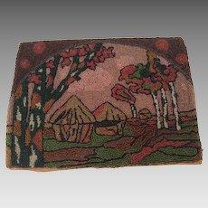 1920's Patterned  Bead Work Bag