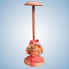 9b1379311b6 Vintage doll Flapper head from a hat stand   Quirky Antiques