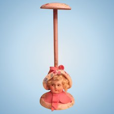 1920's Dolls Head  hat stand as new