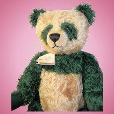 """Kathleen Wallace Stier Bears Curly Mohair Artist Panda Bear 20"""""""