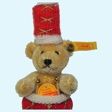 Steiff Miniature Mohair Teddy Bear Drummer Boy