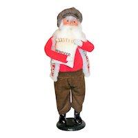 Byers Choice Caroler Santa with Reindeer Feed 1997