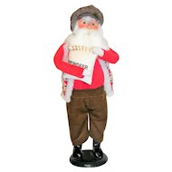 Byers Choice Caroler Santa with Reindeer Feed 1997