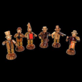 Vintage German Wood Miniature Band in Box