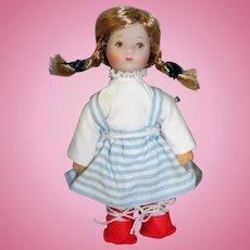 Miniature Kathe Kruse Dollhouse Doll Kathl
