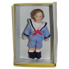 Miniature Kathe Kruse Dollhouse Doll Little Max