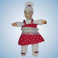 Miniature Kathe Kruse Dollhouse Doll Baby Rosalie