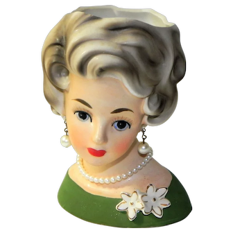 Vintage Napco Lady Head Vase Planter