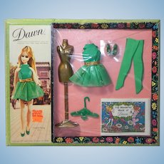 Vintage Dawn Doll Outfit Green Fling NRFB