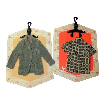 Vintage Ken Doll Pack Shirt and Jacket on Card