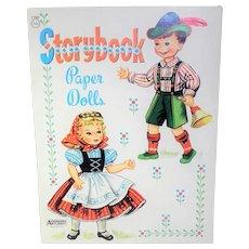 Saalfield Artcraft Vintage Storybook Paper Dolls Book