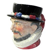 Large Vintage Royal Doulton Beefeater Toby Mug 1946