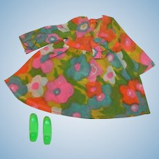 Vintage Barbie Mod Outfit 1453 Flower Wower