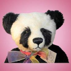 """Kathleen Wallace Stier Bears Alpaca and Mohair Artist Panda Bear 20"""""""