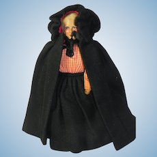 Vintage Jays of Dublin Cloth Doll with Cape 11 inches