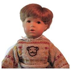 "Kathe Kruse Bubi Boy Doll, Red Hair and Brown Eyes, Rumpumpel Style with box 13"""