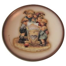 """Vintage Hummel Decorative Plate """"Rock-a-Bye"""" 4 inches"""