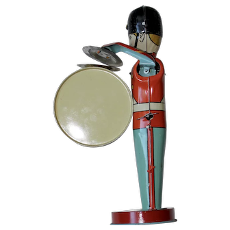 1940s Tin Windup Toy Musician