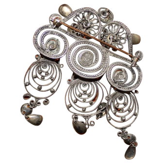 Vintage silver pin 830 S Norway. Norwegian Soelje.