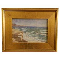 Figure On Beach by Ivan Kliun Oil on Canvas
