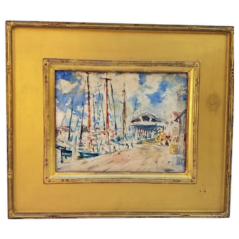 Wharf Scene by Frederick Wagner