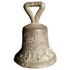 Antique Dated 1814 Spanish Colonial Bronze Church Bell